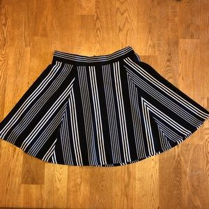 Navy Striped A-Line Skirt from H&M
